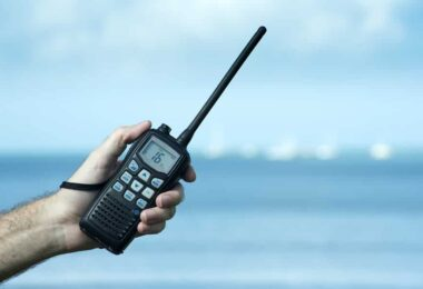 Two-way radio in the hand