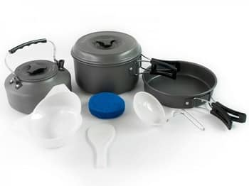 Winterial Camping Cookware and Pot Set 11 Pieces