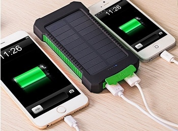 Solar Charger, 10000mAh Solar Power Bank