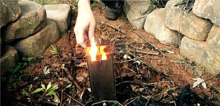 Hot ash stove fire