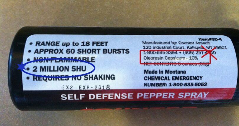 Bear Spray Ingredients