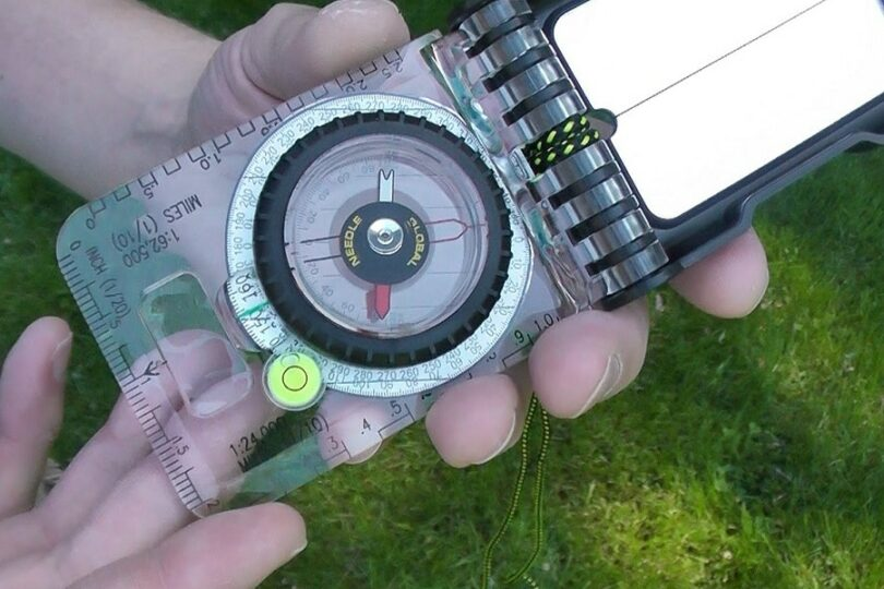 Compass With Declination Adjustment