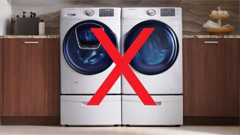 Do not use washing machine