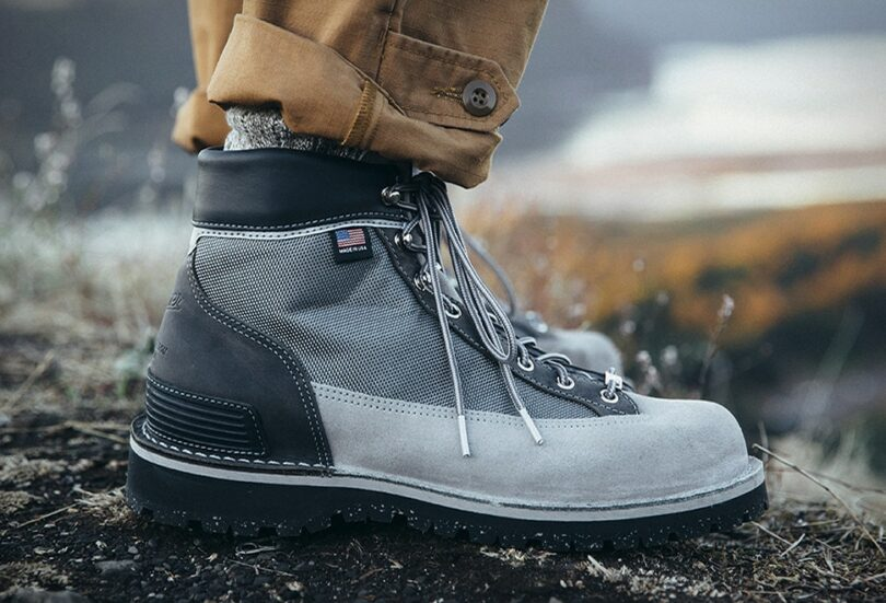Grey Hiking Boots