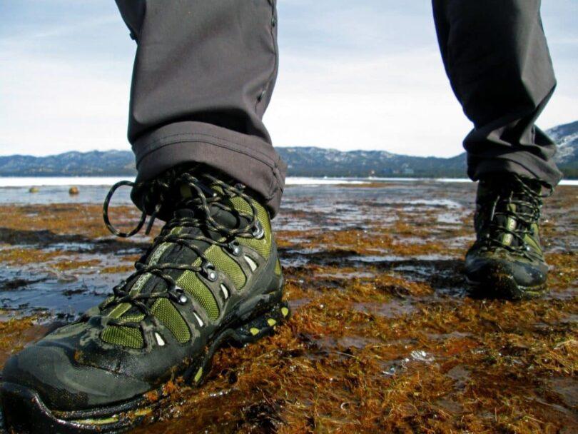 Man Walking in Hiking Boots