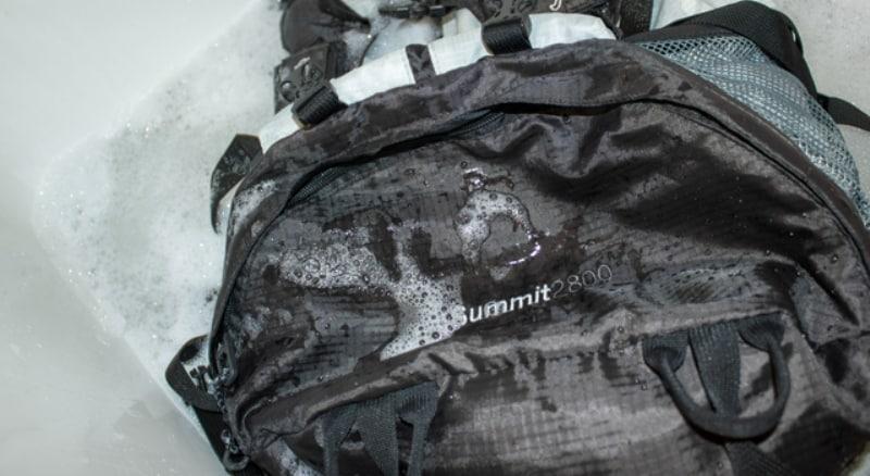 Washing a Backpack