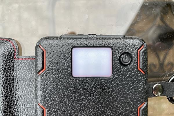 LED light on the back of the QuadraPro
