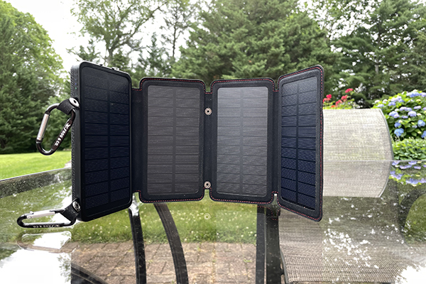Survival Frog QuadraPro Solar Charger on the BMT