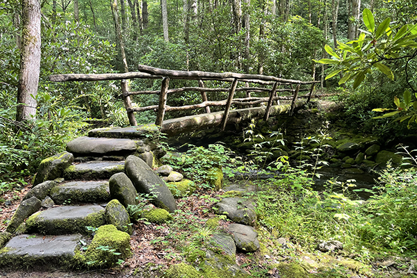 Lord of the Rings bridge with great steps